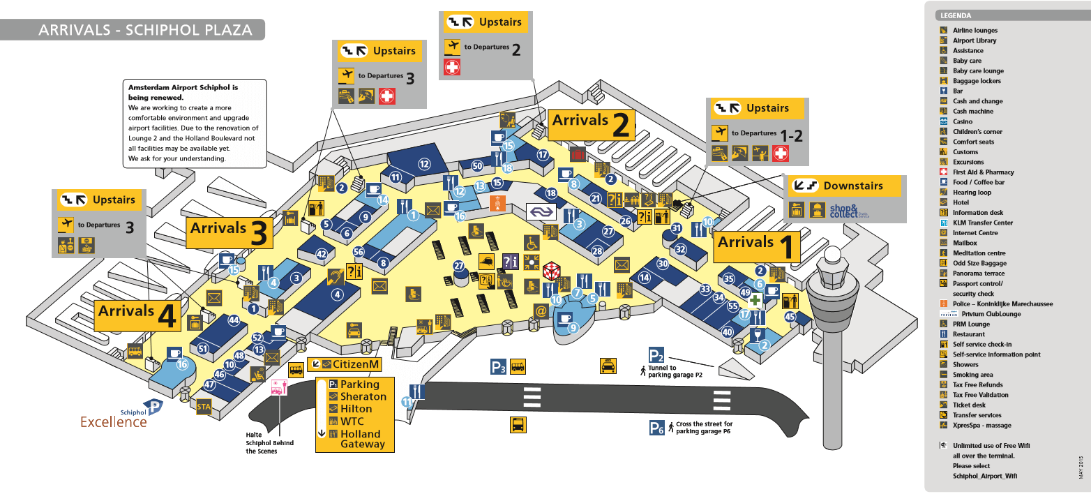 amsterdam schiphol airport map From Airport Sunflower Amsterdam amsterdam schiphol airport map